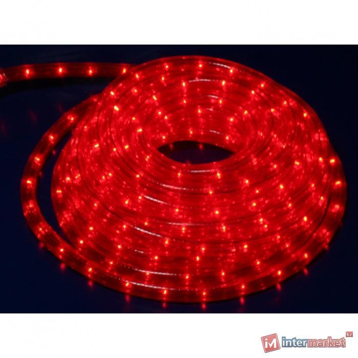 Гирлянда роуп лайт (дюралайт) 8м красная кабель черный 1,8м стартовая Ropelight d13мм 8функций 288диодов MICRO outdoor