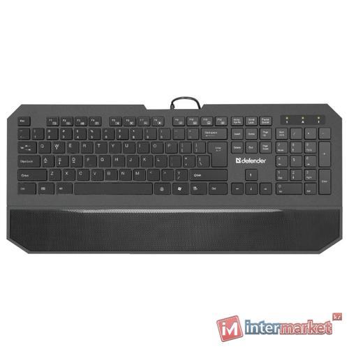 Клавиатура проводная Defender Oscar SM-600 Pro, черный