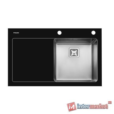 Кухонная мойка Pyramis Crystalon (86x53) 1B 1D (black)